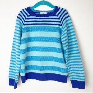 Hanna Anderson Striped Cotton Crewneck Sweater